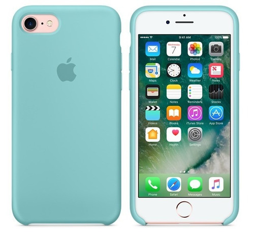 protector funda silicone case iphone 7 / 7 plus - sellado