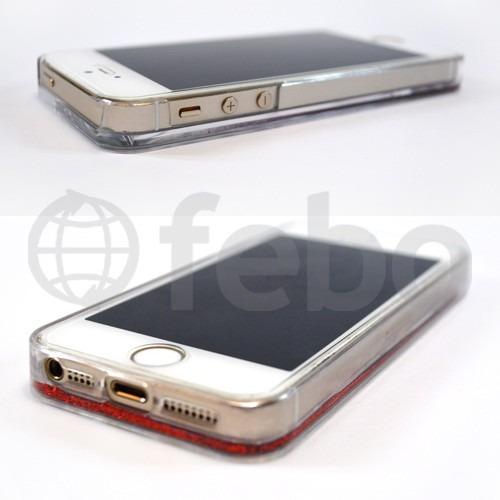 protector funda tpu liquido brillante iphone 5 - 5s - se