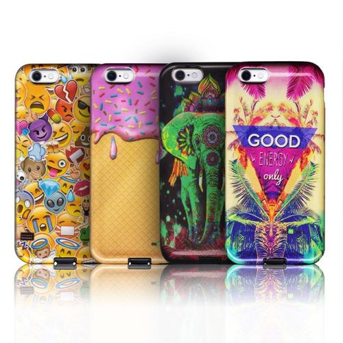 protector gummy case con diseño iphone 6 plus