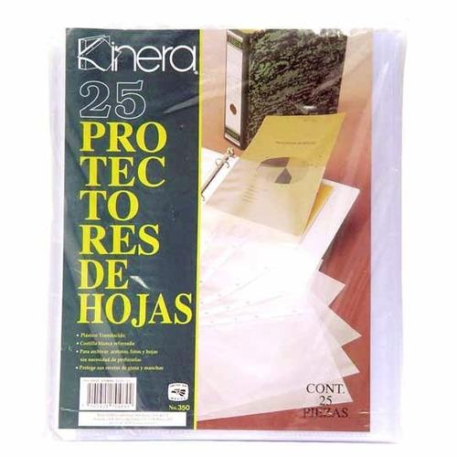 protector hojas tamaño carta, caja con 25 azo-prh-350