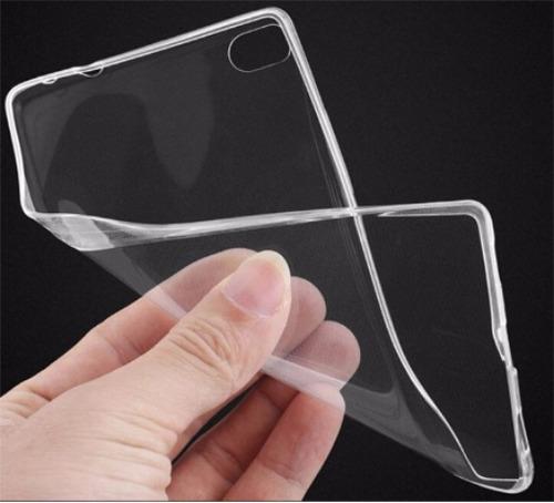 protector huawei p8 lite vidrio templado + silicona de lujo