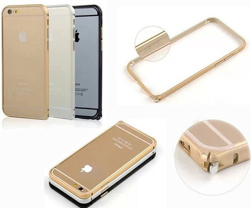 protector iphone 6s bumper en aluminio+screen 6splus 6/6plus