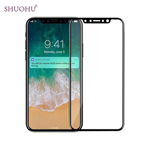 protector iphone x mica vidrio templado 3d