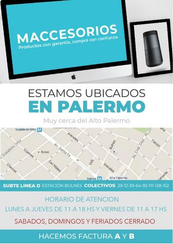 protector macbook 12 acrilico tipo marmol negro