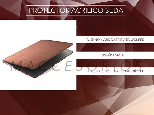 protector macbook acrilico suave al tacto color cobre
