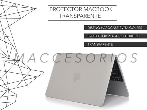 protector macbook de acrilico mate transparente premium