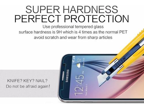 protector mica fibra de vidrio nillkin amazingh+ samsung s6
