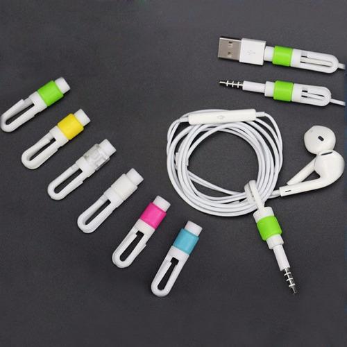 protector organizador cable lightning iphone 5 6 7 audífono