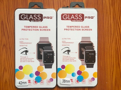 protector pantalla apple watch serie 1,2 y 3 / 42mm y 38m