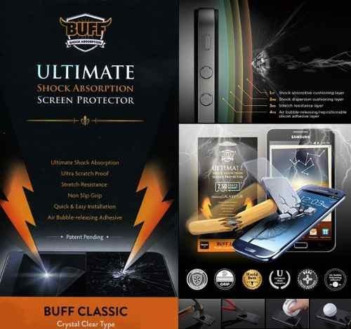 protector pantalla buff anti golpe samsung s4 i9500