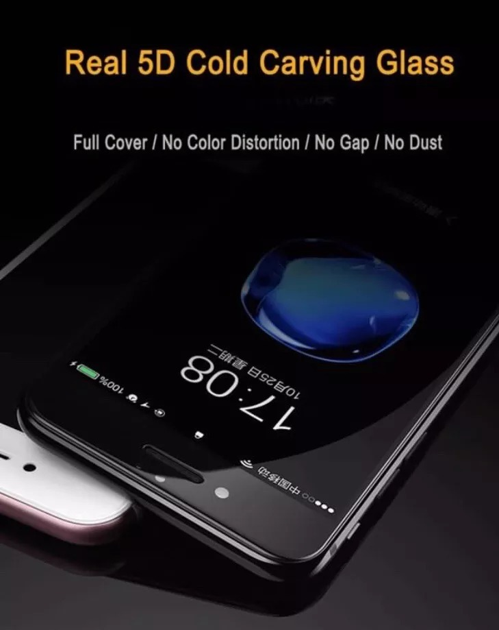 eef2e42ae2a protector pantalla curvo vidrio 5d iphone 6,7,8,s, plus ,. Cargando zoom.