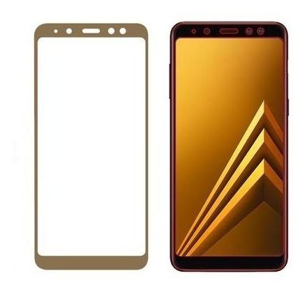protector pantalla vidrio 3d samsung a8 plus 2018 -  dorado