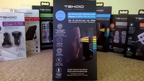 protector pantalla vidrio anti-uv  iphone 5 6 6plus tekqo