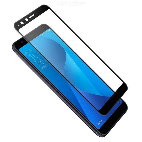 protector pantalla vidrio full pega zenfone max plus - negro