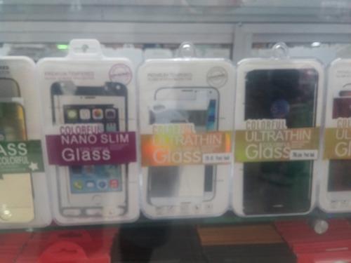 protector pantalla vidrio templado en colores iphone 5c