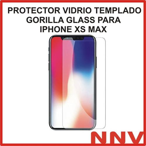 protector pantalla vidrio templado glass para iphone xs max