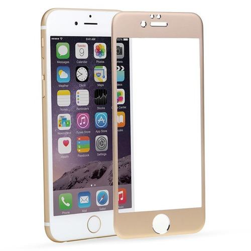 protector pantalla vidrio templdo color dorado iphone 6 plus