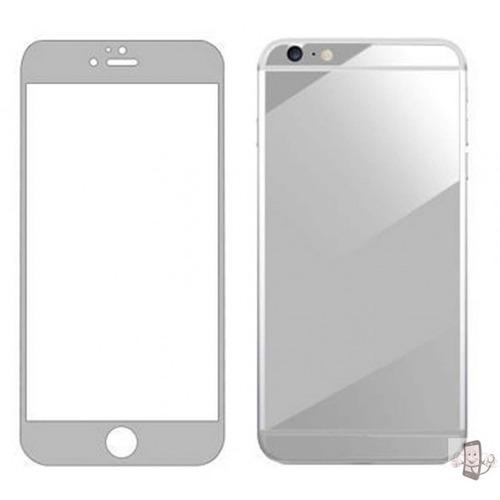 protector pantalla vidrio templdo color plateado iphone 4