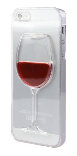 protector para iphone 5, 5s y se, copa de vino