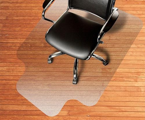 protector placa pvc bajo escritorio  piso alfombra 120x90cm
