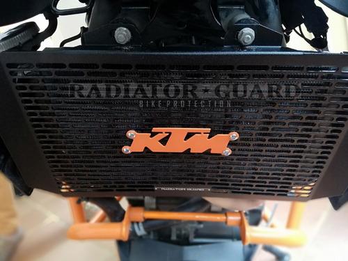 protector radiador ktm duke 200 - 390 negro en oferta