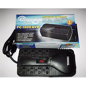 Protector Regulador Computadoras, 8 Tomas 110v  15 Amp  A251