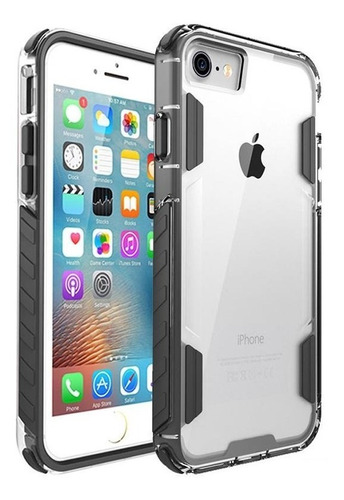 protector rígido uso rudo para iphone 7/8 plus x / xs / xsmax case