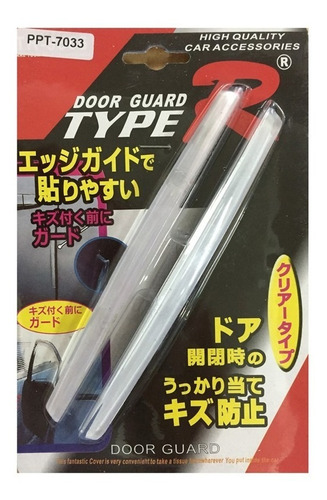 protector salva puerta universal transparente x2 el par