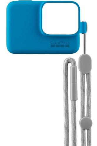 protector silicona + correa original gopro 5, 6 y 7 azul