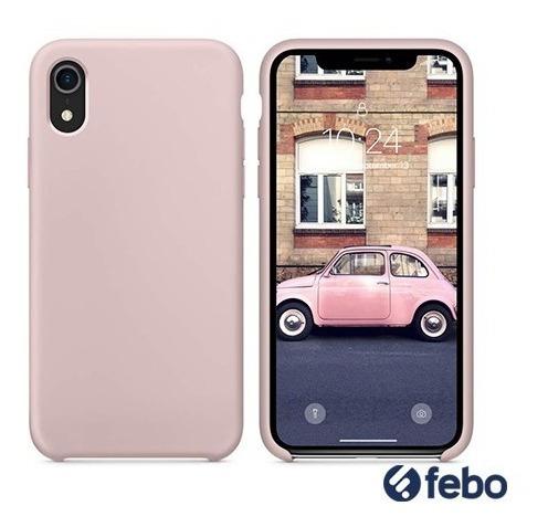 protector silicona similar original iphone xr febo