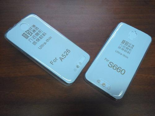protector silicona ultra slim de lujo lenovo a526 / s660