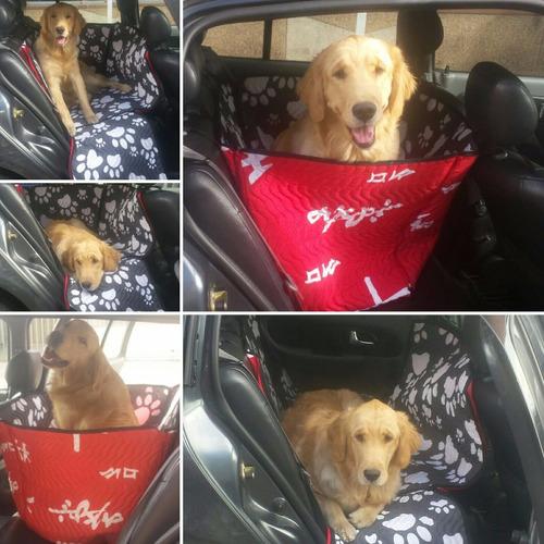 protector silla trasera automovil - perros -