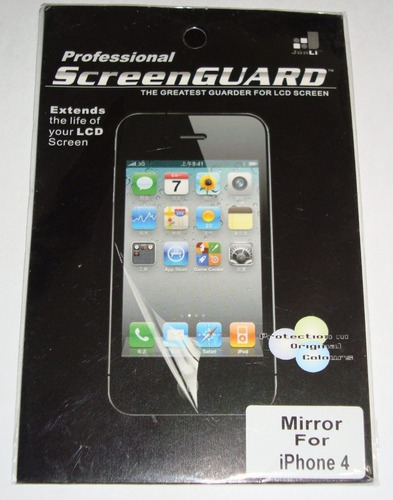 protector skin iphone 4 4s plástico mirror lcd screen