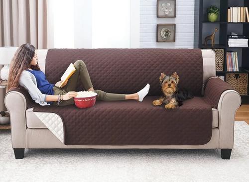 protector sofá microfibra 2 puestos doble faz