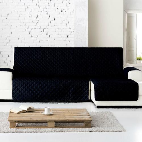 protector sofá negro gris microfibra l der. extra