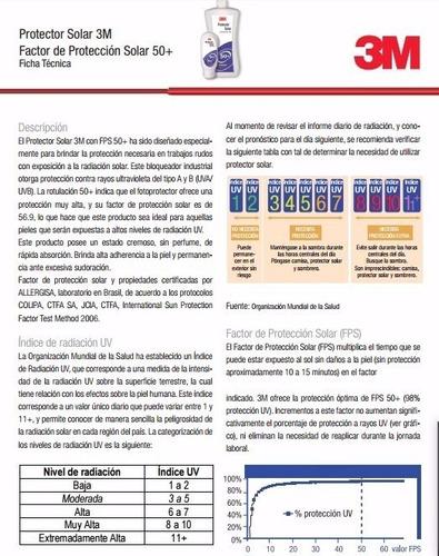protector solar 3m spf 50+ 1litro