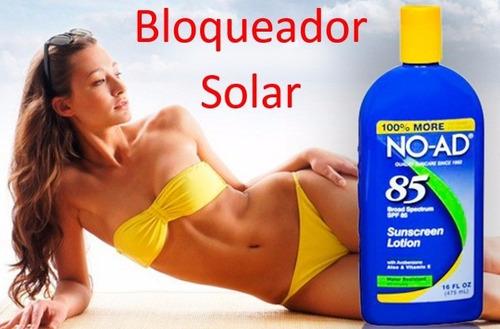 protector solar antisolar bloqueador bronceador no ad 85 spf