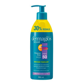 Protector Solar Dermaglos Fps50 Emulsión 380ml Familiar