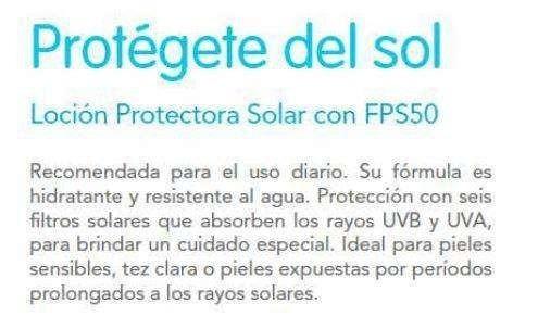 protector solar fps 50 ertia