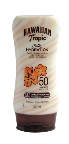 protector solar hawaiian tropic silk hydration 50 spf 180