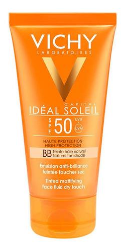 protector solar toque seco con color fps50+ idéal soleil