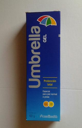 protector solar umbrella gel 60 gramos para piel grasa acne