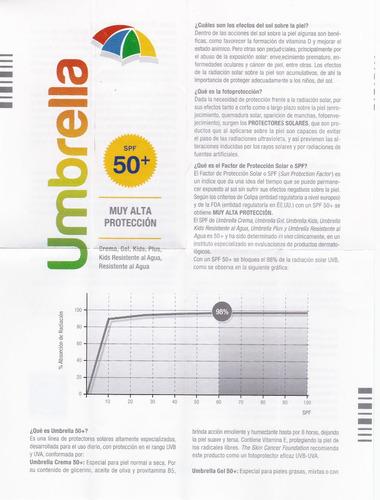 protector solar umbrella spf 50 fco 120 gms muy alta protecc