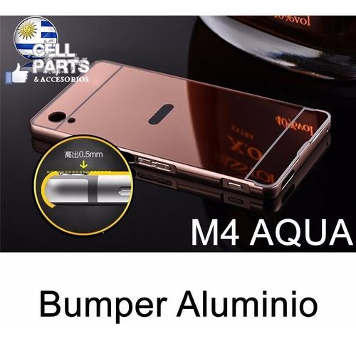 protector sony m4 aqua bumper en aluminio con tapa - colores