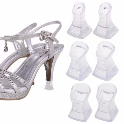 protector taco alto zapato 3 medidas material pvc mimall