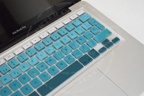 protector teclado degradé español macbook air pro retina 13