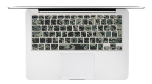 protector teclado español macbook diseño patrón camuflage