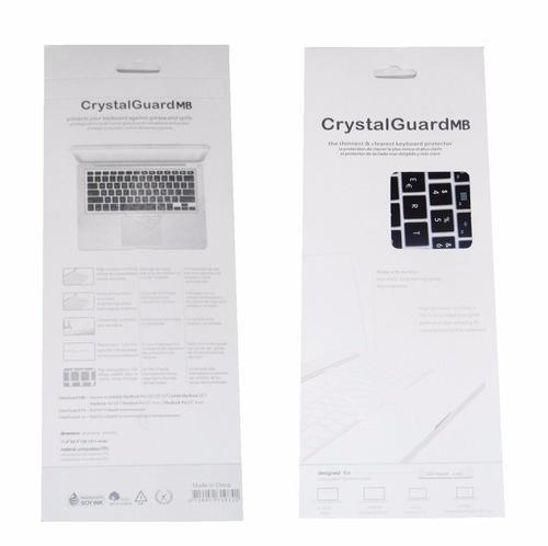protector teclado macbook 12 silicona negro ingles original