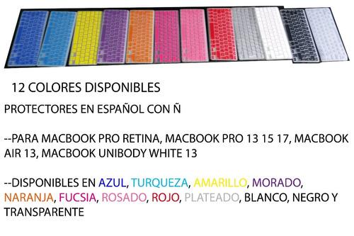protector teclado silicona macbook español