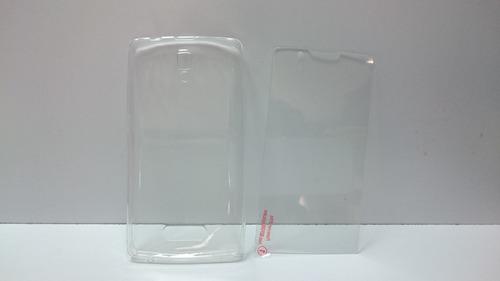 protector templado  pantalla lenovo a2010 + silicona de lujo